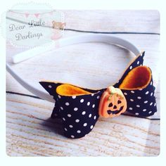 A personal favourite from my Etsy shop https://www.etsy.com/uk/listing/476009689/halloween-headband-bow-pumpkin-trick-or