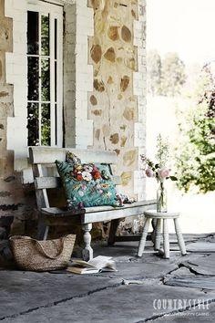 Country Style magazine. Photography Sharyn Cairns, styling Indianna Foord #veranda #quietcorner