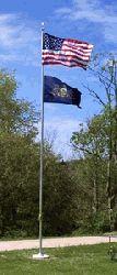 25ft Outdoor Flagpole Kit