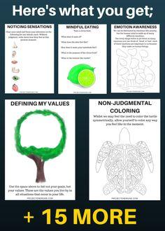 printable mindfulness worksheets