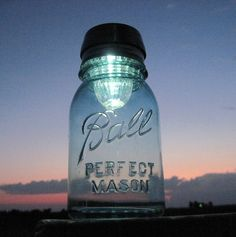 mason jar solar light ~ i have some of these & they are really neat!