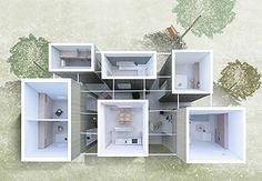 建築費、光熱費を下げれる?ガラス屋根の路地がつなぐボックス型の6つの部屋。豊前の家 | THINK FUTURE