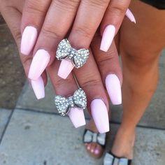 .Light pink barbie nails