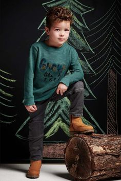 Grow like a TREE! #noppies #green #grow #tree #boys #jongens #kids #sweater #95609 Lovers, Sweater, Boys, Nature, Style, Fashion, Baby Boys, Swag, Moda
