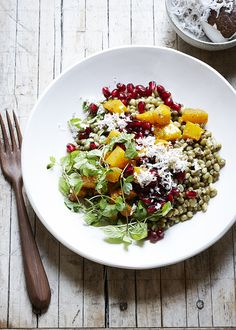 Mung Bean Salad with Butternut Squash and Grated Coconut — Kitchen Repertoire