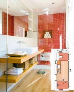 cuartos de baño alargados con ducha al fondo - Buscar con Google