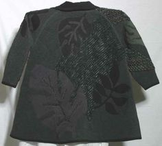 Back view of koos applique jacket