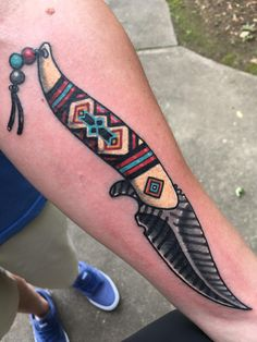 Native American Knife done @ Physical Graffiti South Tattoo Greenville SC. Jeremy crushed it.