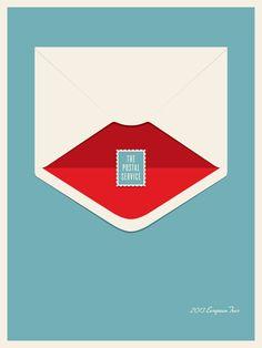 Jason Munn: The Postal Service Band / Gig Poster Series Jason Munn, Cover Design, Design Art, Print Design, Flat Design, Design Ideas, Design Graphique, Art Graphique, Gig Poster