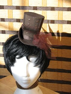 Mini Steampunk Hat by ASEADOVE on Etsy, $25.00