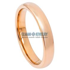 This Wedding Band Ring created from Cobalt Free Tungsten Carbide and made with Comfort Fit design. This ring is ideal as Contemporary Wedding Ring Band, Engagement Ring, Anniversary Band, Gift for His and Her or just for Everyday Wearing. It's a High Polished Rose Gold IP Plated Tungsten Ring Domed  Classic Band. The ring width is 4 mm.    Features:  - Scratch Resistant & Lifetime Guarantee  - Same business day Free Shipping  - Hypoallergenic & Bio-compatible     Item Details:  SKU# TR798EL… Anniversary Bands, Tungsten Carbide, Wedding Ring Bands, Cobalt, Rose Gold, Engagement Rings, Free Shipping, Contemporary, Business