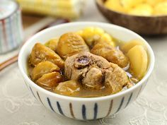 Chestnut and Corn Chicken Soup