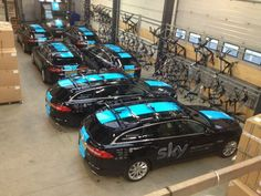 Team SKY support cars