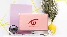 Mockup Eagle Eye Logo Typographic Logo, Typography, Pinterest Tumblr, Eye Logo, Eagle Eye, Logo Design, Graphic Design, Logo Color, Mockup