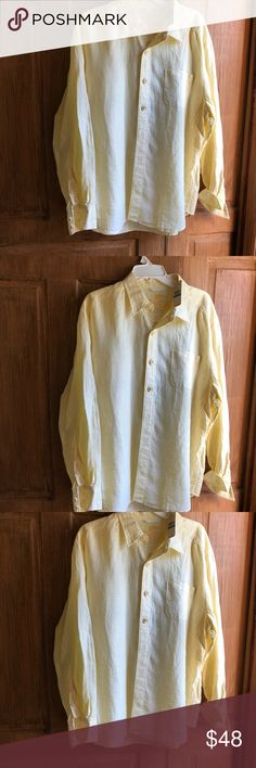 NWT Tommy Bahama button down shirt LS NWT Tommy Bahama button down shirt LS Relaxed Fit Size Extra Large Long Sleeve  Looks great with shorts or khakis or beach pants Great color Originally 98.00  Thank you for your consideration to buy from Charlie's Corner Bargains  We appreciate your positive feedback  We ship items within one day All merchandise is in a clean smoke free/pet free environment. Professional Sellers We leave positive feedback for all buyers that buy positively. Tommy Bahama Shirts Casual Button Down Shirts