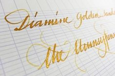 Diamine Golden Sands Ink Review. Shimmering gold goodness!
