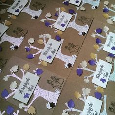 Handmade wedding invitations :)