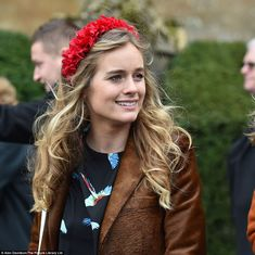 Cressida Bonas, the actress and former girlfriend of Prince Harry, outside a memorial serv...