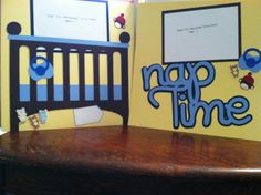 Nap Time Baby Boy Pre Made 12 x12 double Page by aSavvyScrapbooker, $12.00