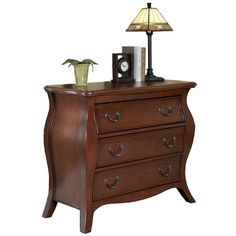 Found it at Wayfair - Regency Bombe 3 Drawer Chest in Cherry