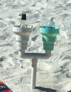 This Sand-Proof Drink Holder 22 Beach Products You Absolutely Need This Summer Beach Gear, Beach Trip, Beach Vacations, Hawaii Beach, Oahu Hawaii, Beach Travel, Beach Resorts, Vacation Destinations, Outdoor Fun