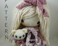 Kendra Amigurumi Doll Crochet Pattern PDF