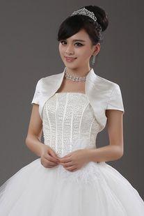 bride wedding dresses shawls small tops Bolero Jackets/Organza Bridal Jacket/Satin Jacket