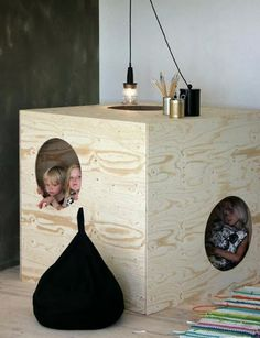 """A nice take on a childrens play house. Should be quite easy to make """"made to mesure"""" for any room ;)"""