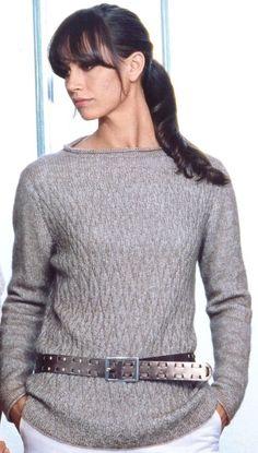 женский пуловер стильный