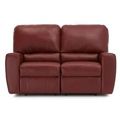 Palliser Furniture San Francisco Modular Loveseat Upholstery: All Leather Protected - Tulsa II Dark Brown, Leather Type: All Leather Protected, Typ...