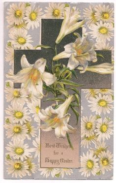 A glorious burst of flowers  in your mailbox...https://www.etsy.com/listing/184231829/easter-lilies-and-daisies-antique