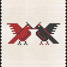 Simbolul sarbatorii de Dragobete Până în februarie 2016, Dragobete nu avea un simbol asociat. Pe 15 februarie 2016, simbolul Dragobetelui a fost ales în urmă a peste 20.000 de voturi, printr-o campanie de promovare a valorilor românești, organizată de Petrom. Simbolul ales a fost Uniunea. 15 Februarie, Craft Activities, Romania, Cool Designs, Projects, Crafts, Travel, Art, Embroidery