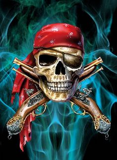 Posters & Prints Pirate Skull Lenticular Picture Poster Painting Home Decor Wall Art Decor & Garden Skull Pictures, 3d Pictures, Pirate Skull Tattoos, Cool Tribal Tattoos, Art Tattoos, Arte Viking, Pirate Art, Skull Artwork, Skull Drawings
