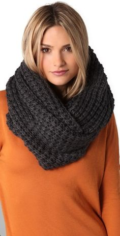 Chunky Knit Wrap Scarf - Perfect for a day like today!!!