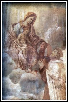 Madonna con Bambino - Affresco - piazza Lorenzo Mascheroni - Bergamo