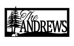 Custom Outdoor Family Name Metal Sign - Pine Trees, House Signs, Personalized Gifts, Metal Wall Art, Wedding Gifts, Signs, Outdoor Signs