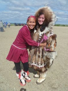 Proud Inupiaq girls from Northwest Arctic Alaska
