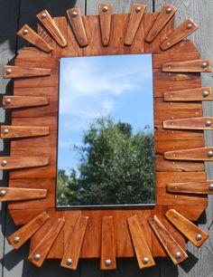 Handmade Rustic Wooden Cedar Mirror by CoastalDesignGallery, $65.00