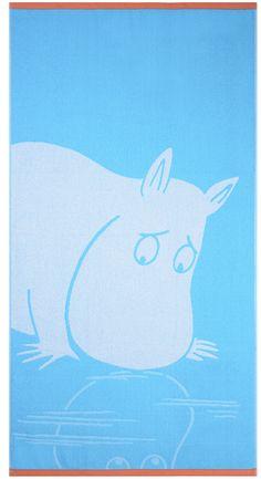 Moomintroll towel de la marca Finlayson disponible en Shopnordico #shopnordico #baño #toalla