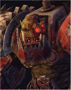 """""""I ain't done with you yet, Space Marine!"""" —Warboss Grimskull during the Ork invasion of Forge World Graia."""
