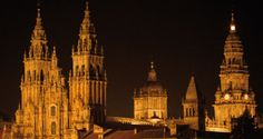 Beautiful Santiago de Compostela that will make your mouth drop. Night time is perfect as well as day time, but photography does it no justice at all! you must visit if traveling to Northern Spain, Galicia region because it's a spectacular site for pilgramage and for simply touring.