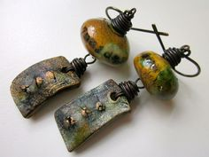Song of Myself  ancient teal primitive ceramic tablets by LoveRoot, $48.00