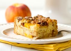 Peach Coffee Cake by Brown Eyed Baker