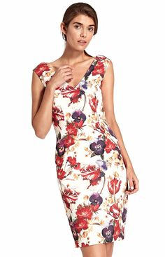 Nife Dopasowana sukienka z dekoltem S107KW Cold Shoulder Dress, Spandex, Dresses, Fashion, Vestidos, Moda, Fashion Styles, The Dress, Fasion