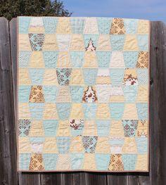 Handmade Baby Quilt by darlenestaley on Etsy
