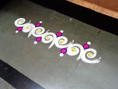 how to make new border patti rangoli design   created by latest rangoli
