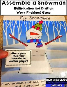 This game is used to practice solving multiplication and division word problems in math during the winter holiday season. I use this game a lot during December or January of each year. Students practice solving word problems while playing a game at the same time! This game is flexible and students should be able to use whatever method you prefer them to use to solve each problem when playing this game.