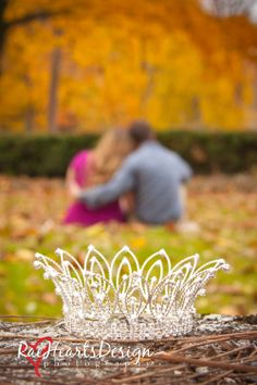 Maternity Photography. Gorgeous couple in a fall wonderland. Pageant Mama Crown © Rae Hearts Photography Philadelphia, Pa