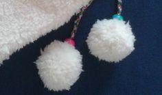 esferas peludas con tela