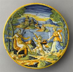 Faience dish from Lyon . Museum of Louvre . Symbols Of Strength, Greek And Roman Mythology, Hercules, Lyon, Spinning, Images, Louvre, Dish, Museum